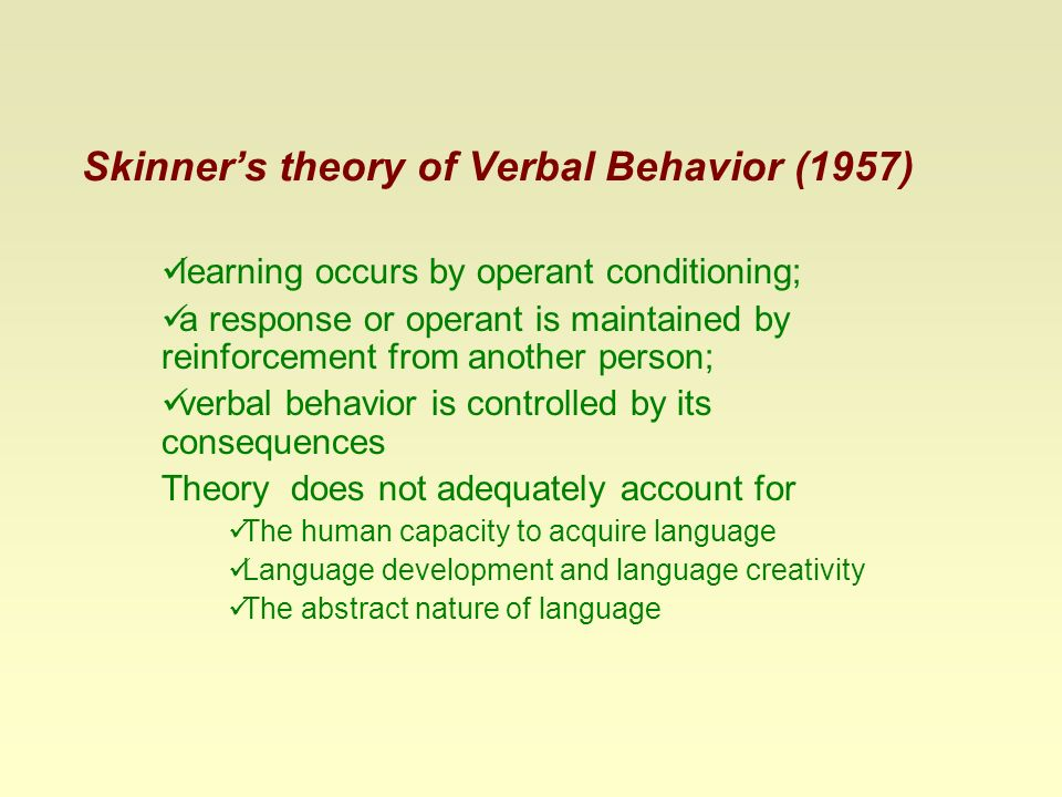B. F. Skinner's contributions to applied behavior analysis