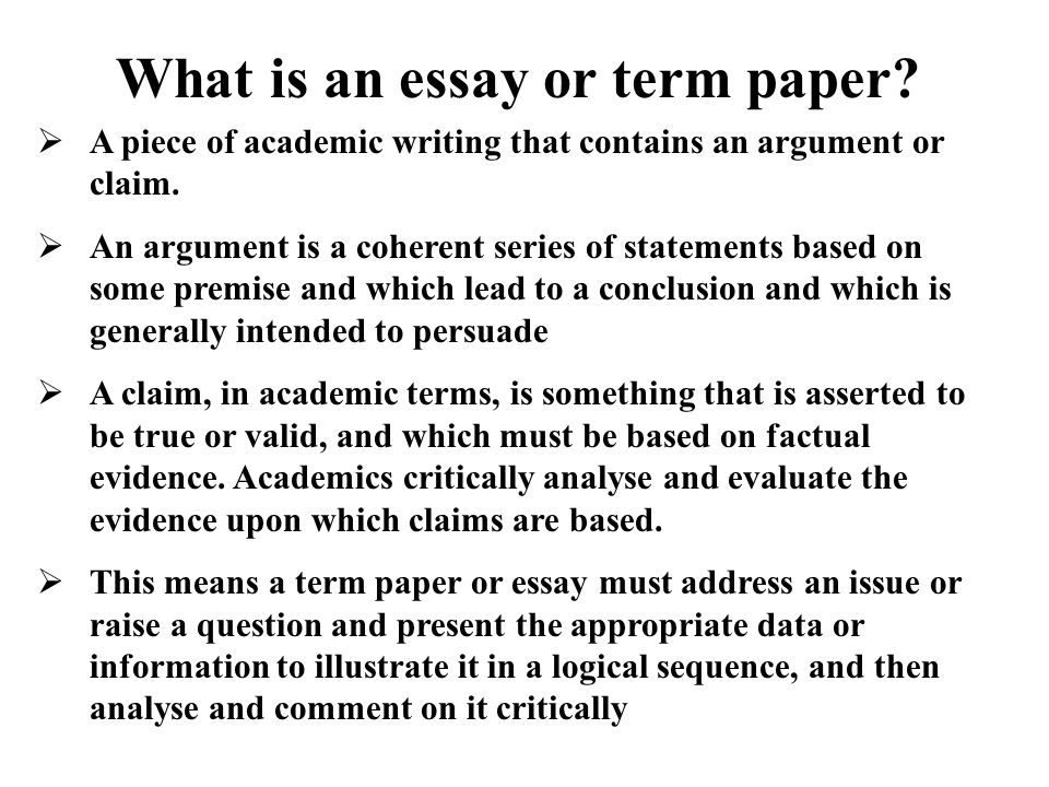 term paper 2 essay Our free list of 300 essay, thesis, term paper, research paper, and book report topics, with over 90,000 sample essays to choose from.
