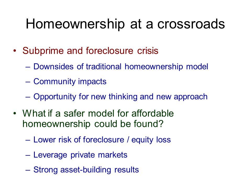 Homeownership at a crossroads
