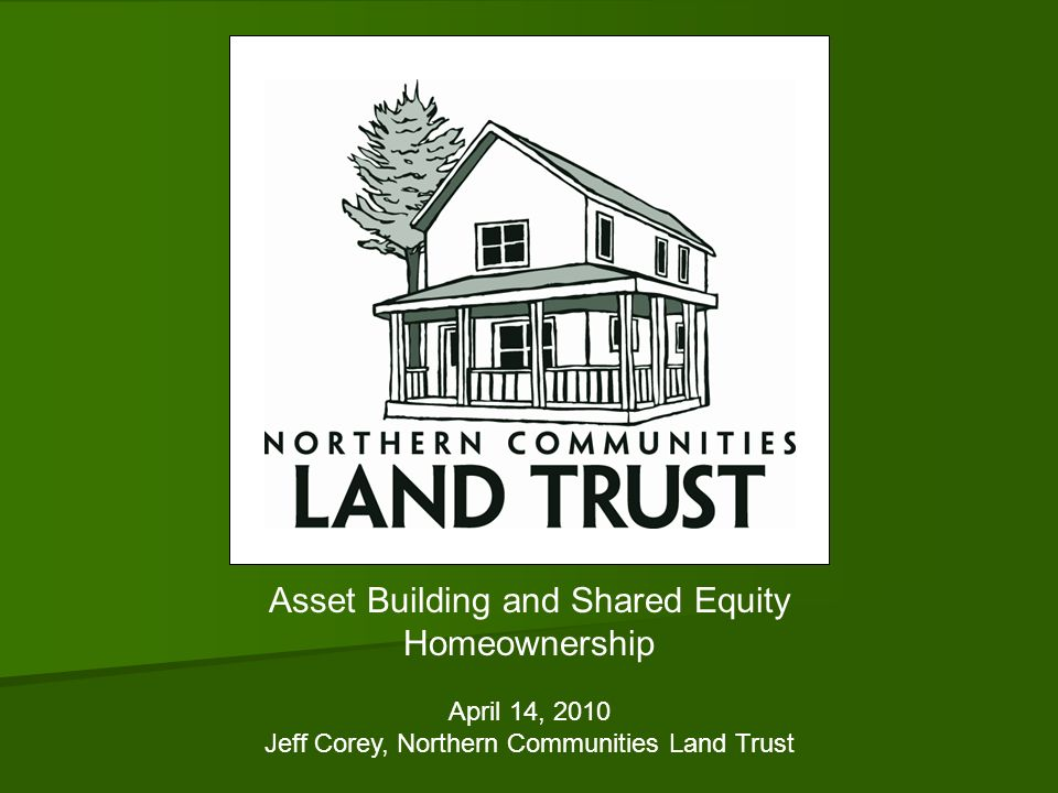 Asset Building and Shared Equity Homeownership