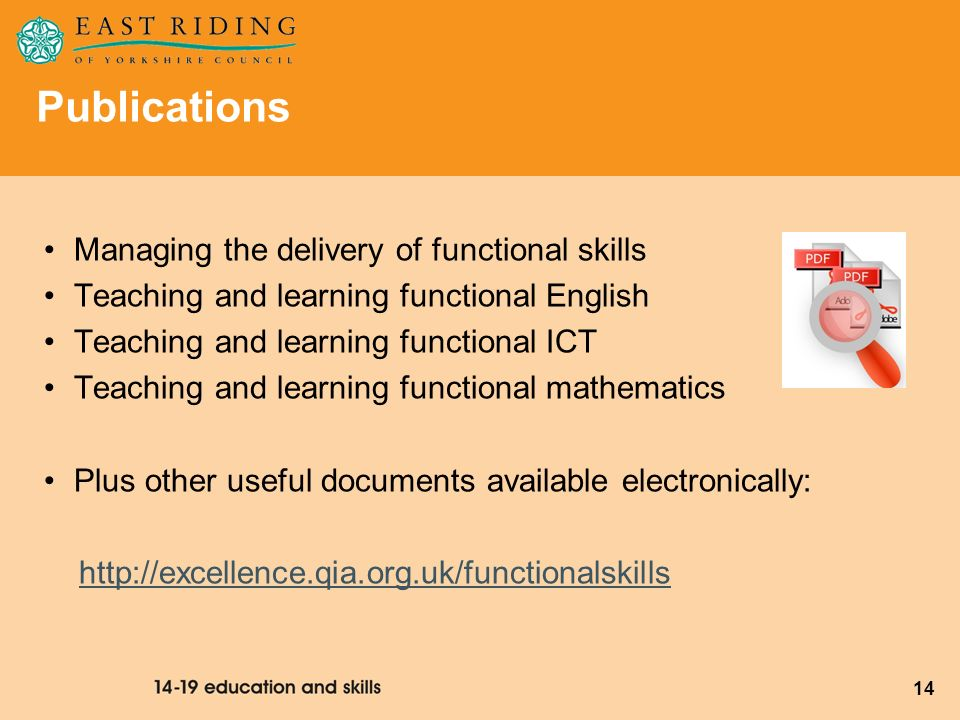 Publications Managing the delivery of functional skills
