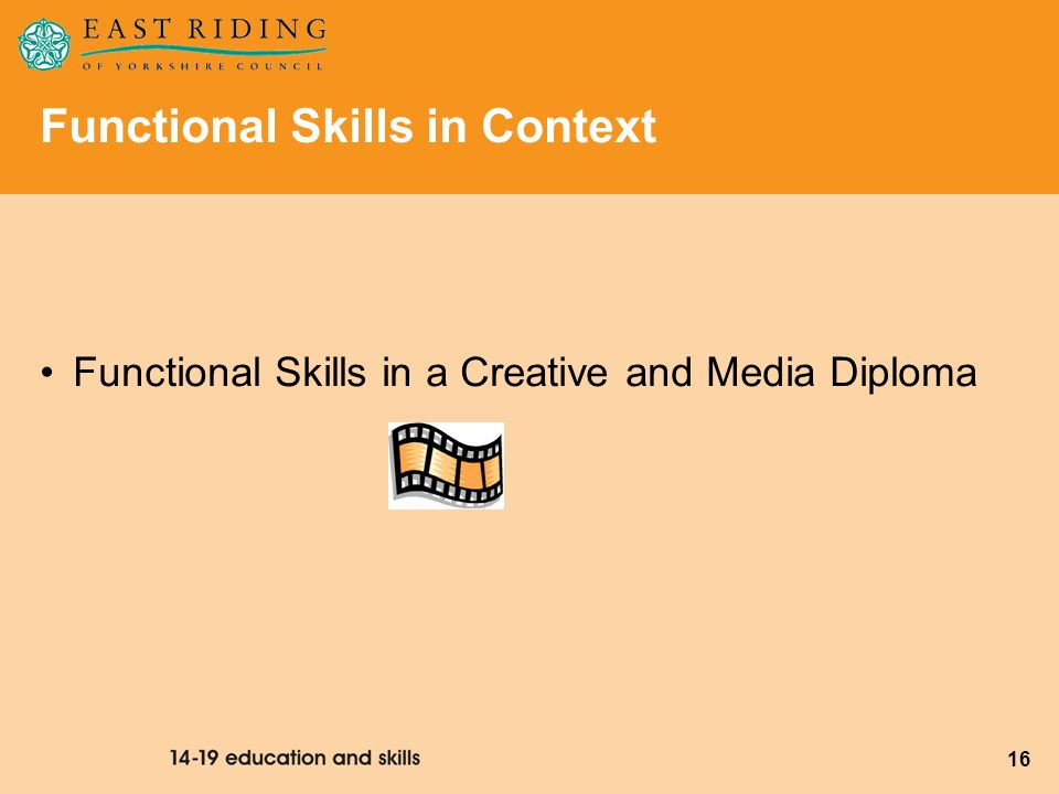 Functional Skills in Context