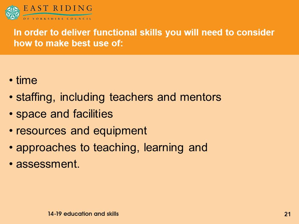 staffing, including teachers and mentors space and facilities