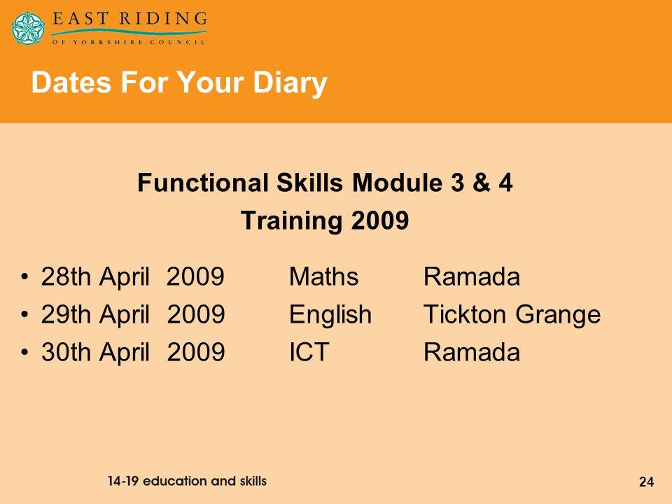 Functional Skills Module 3 & 4