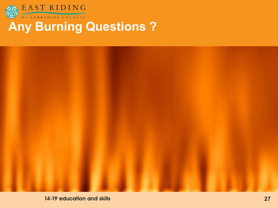 Any Burning Questions