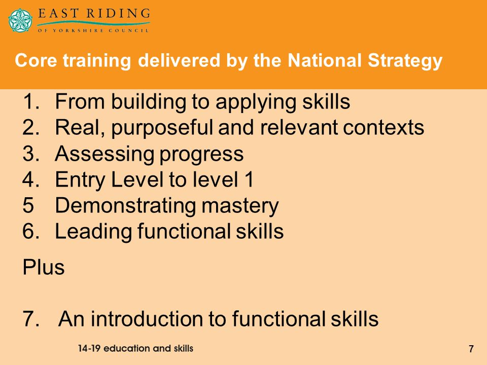 Core training delivered by the National Strategy