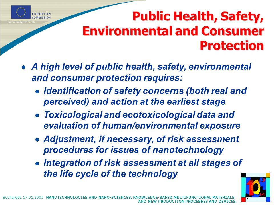 Public Health, Safety, Environmental and Consumer Protection