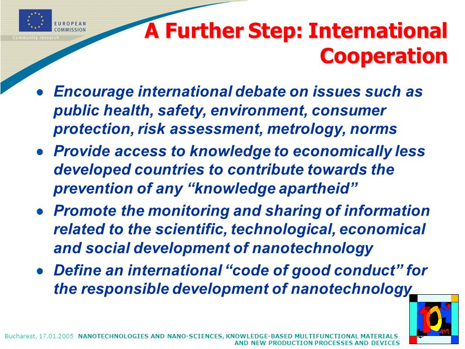 A Further Step: International Cooperation