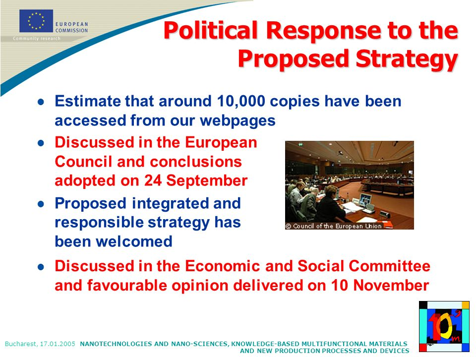 Political Response to the Proposed Strategy