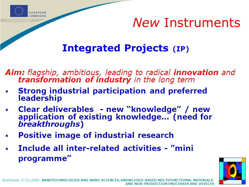 Integrated Projects (IP)