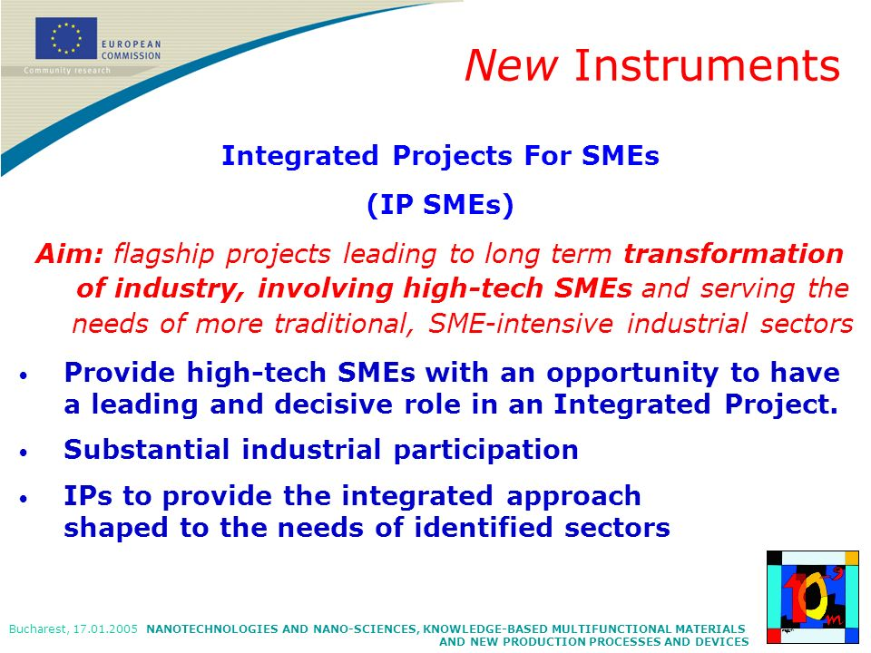 Integrated Projects For SMEs