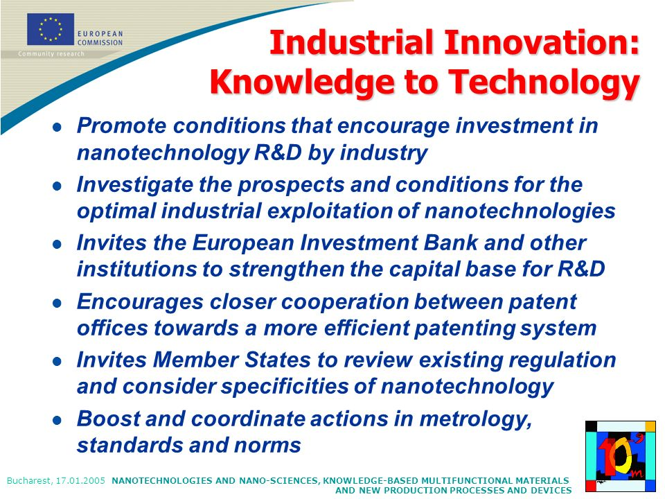 Industrial Innovation: Knowledge to Technology