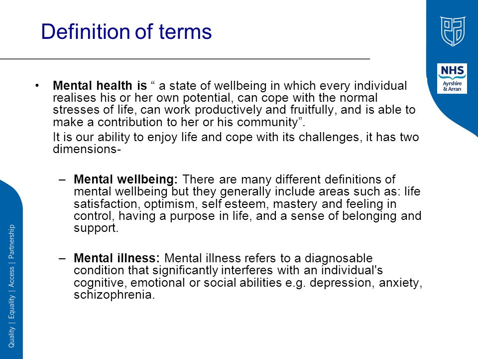 mental health illness and emotional wellbeing Watch video when this happens it is important to treat both the illness and your mental and emotional health  on your emotional wellbeing  mental & emotional health.
