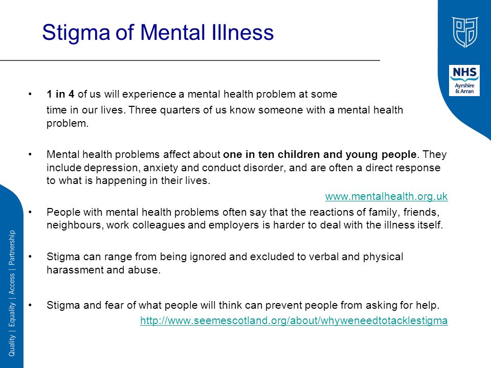 community problem the stigmatization of mental 9 ways to fight mental health stigma  all of us in the mental health community need to raise our  blame the problem of mass shootings on mental.