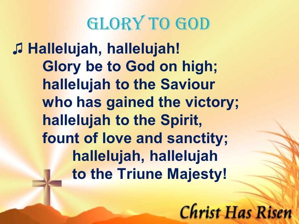 Glory To God Hallelujah Chords Glory To God Hallelujah Hymnary Org