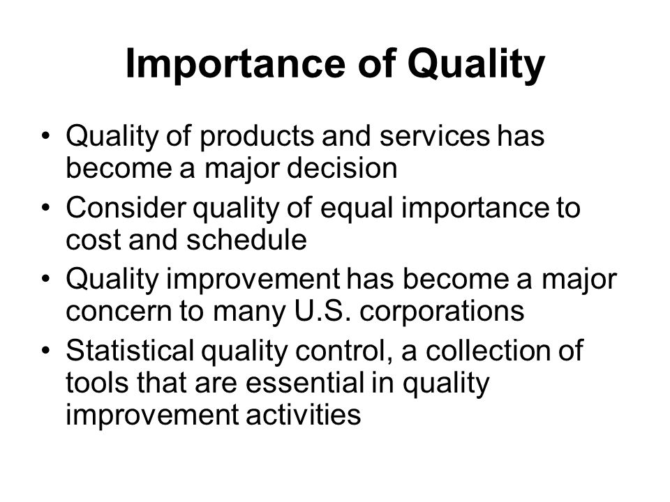 importance of service quality in business That is why it is really important to have a defined value proposition that's why  businesses often get caught in the value triangle: quality, price,.