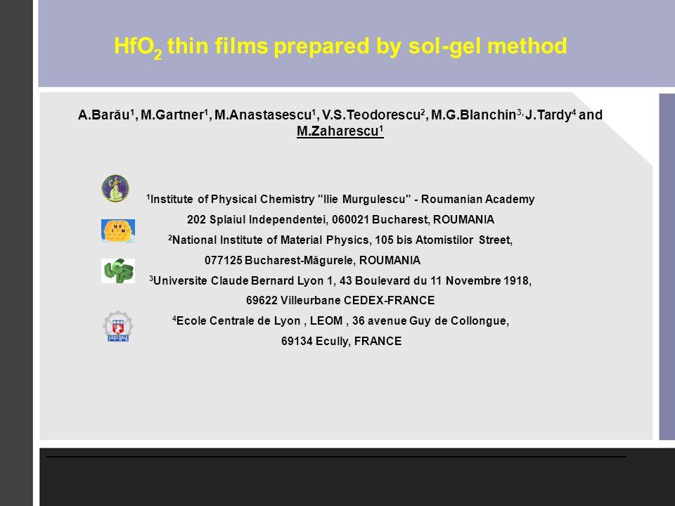 HfO2 thin films prepared by sol-gel method