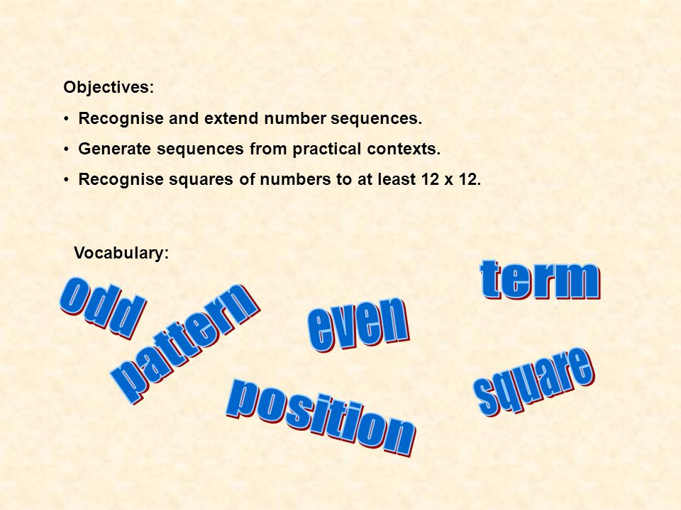 term odd even pattern square position
