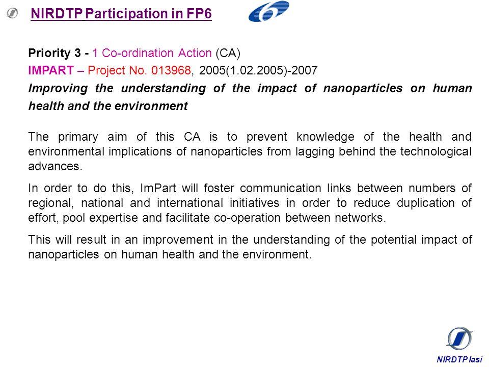 NIRDTP Participation in FP6