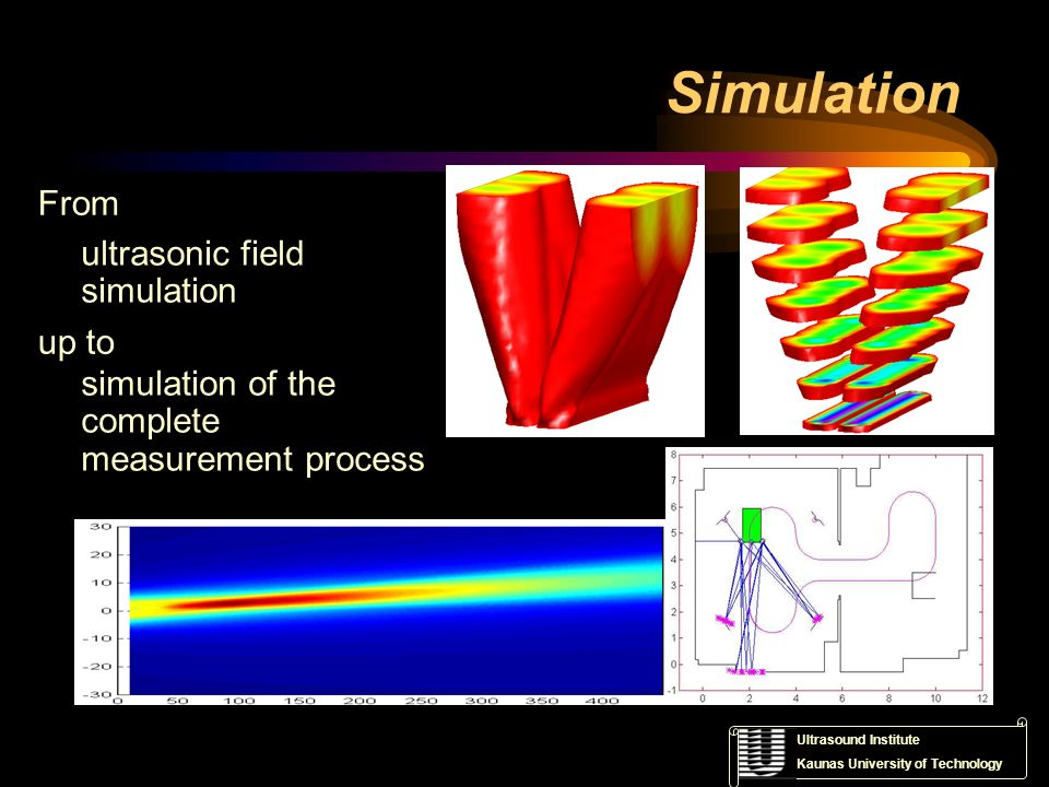 Simulation From ultrasonic field simulation up to