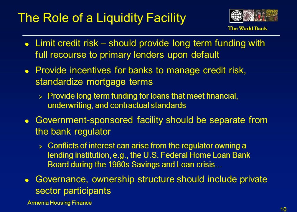 The Role of a Liquidity Facility