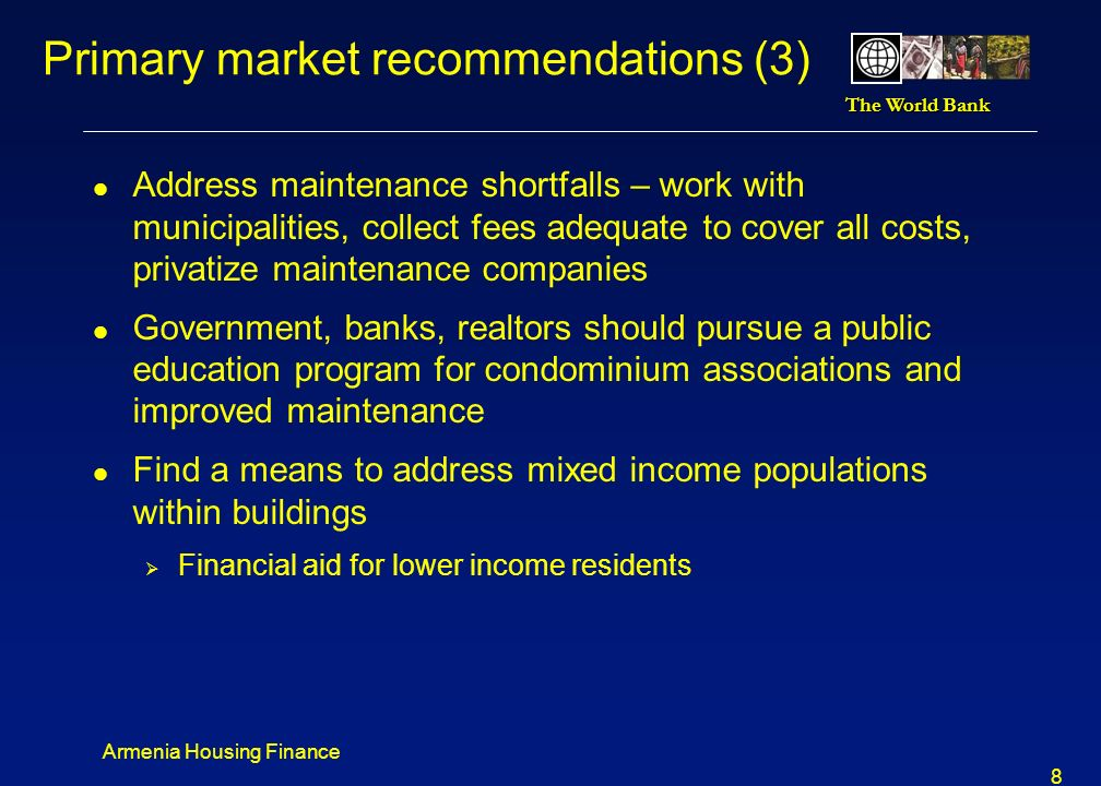 Primary market recommendations (3)