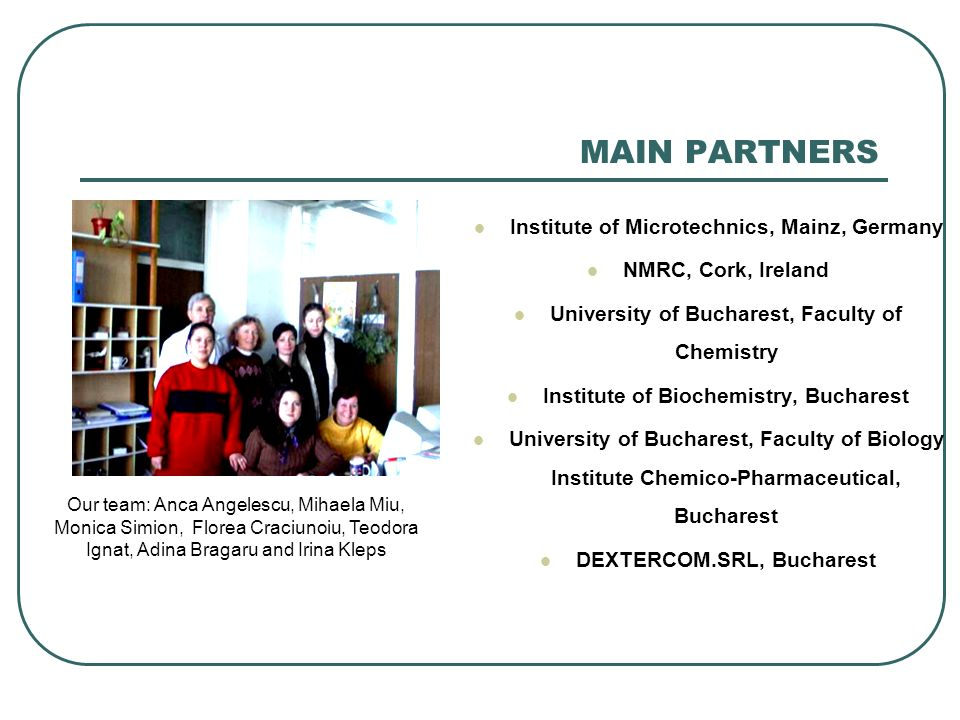 MAIN PARTNERS Institute of Microtechnics, Mainz, Germany