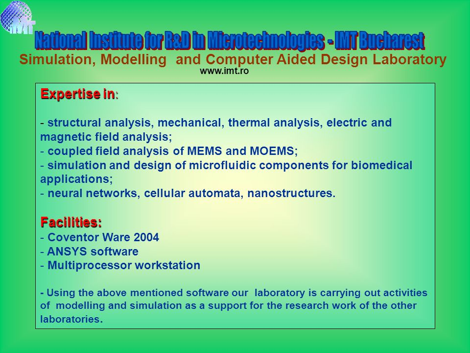 Simulation, Modelling and Computer Aided Design Laboratory