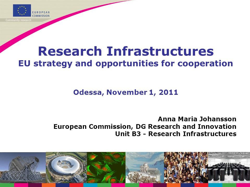 Research Infrastructures EU strategy and opportunities for cooperation