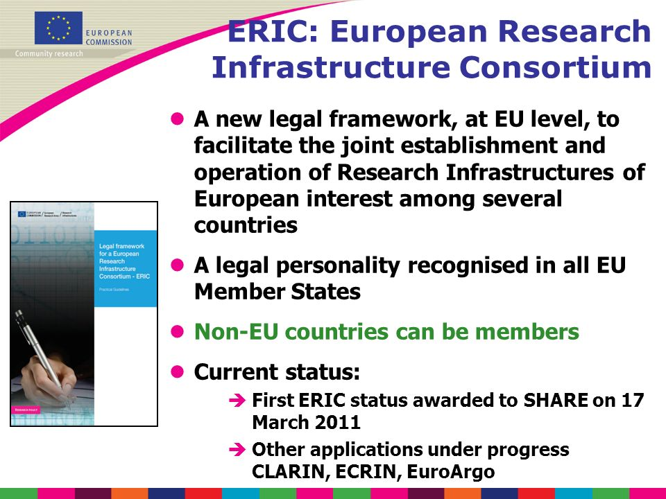 ERIC: European Research Infrastructure Consortium