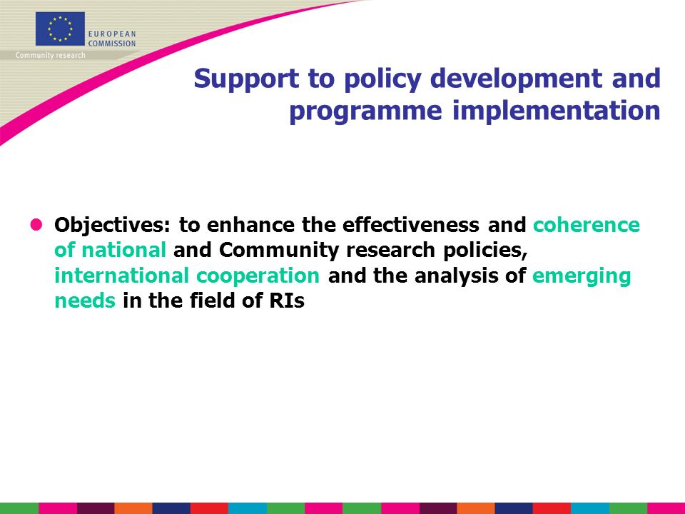 Support to policy development and programme implementation