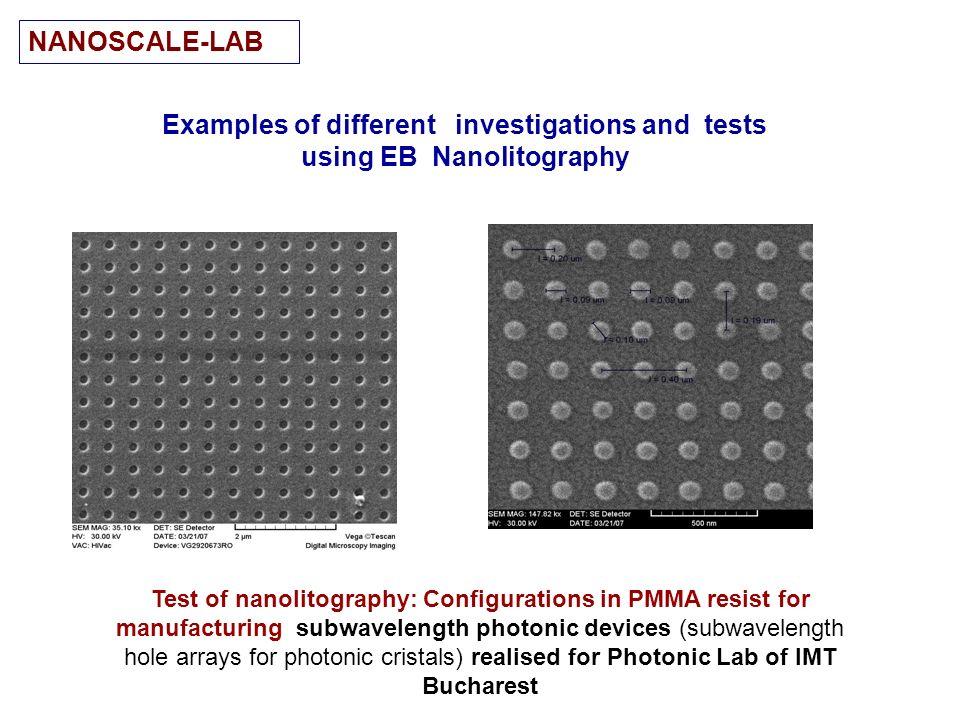 examples nanolitography