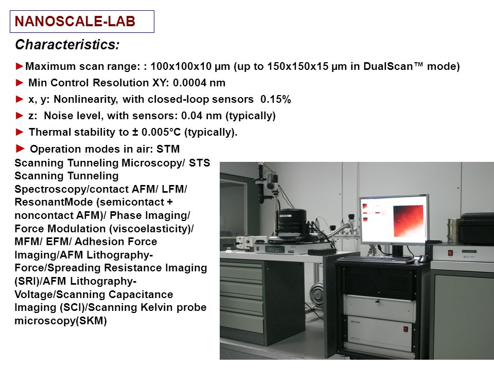 NANOSCALE-LAB Characteristics: