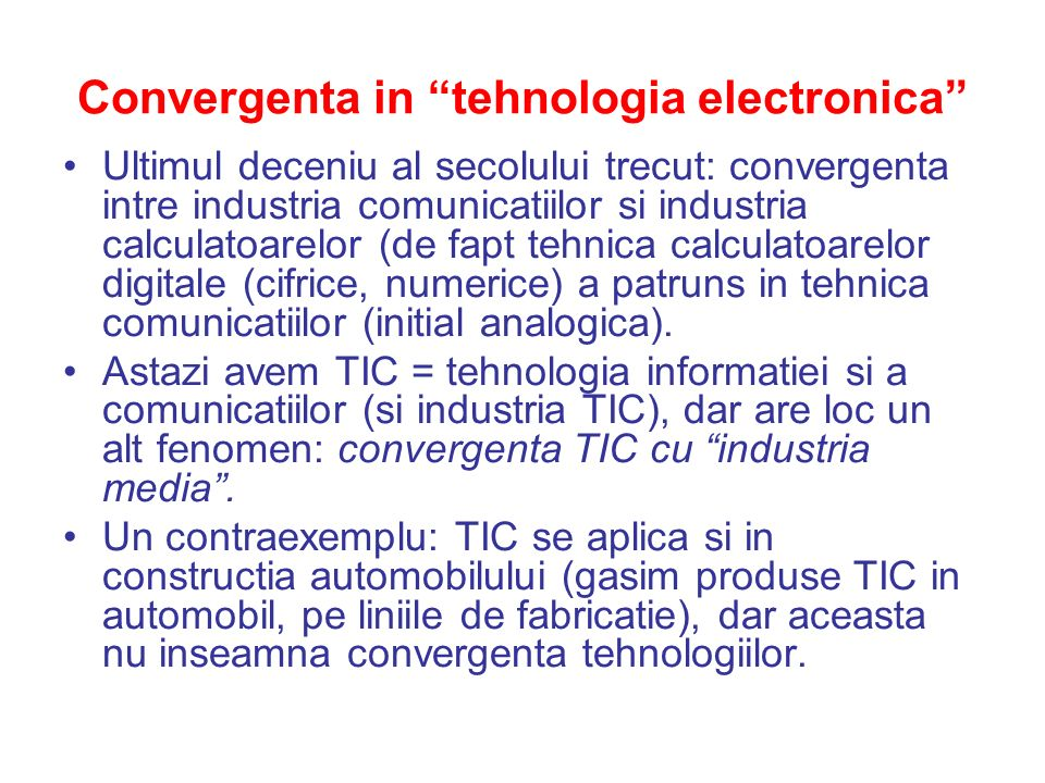 Convergenta in tehnologia electronica
