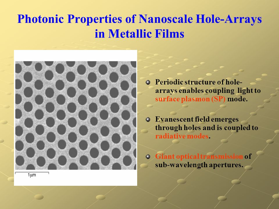 Photonic Properties of Nanoscale Hole-Arrays in Metallic Films