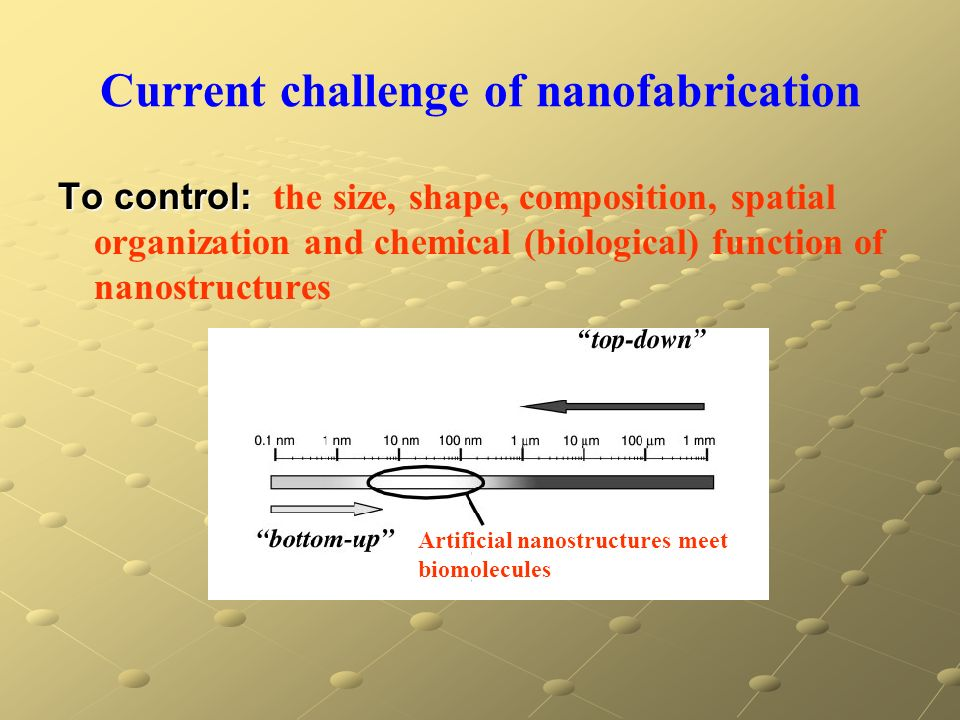 Current challenge of nanofabrication
