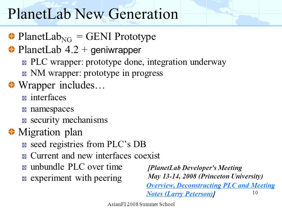 PlanetLab New Generation