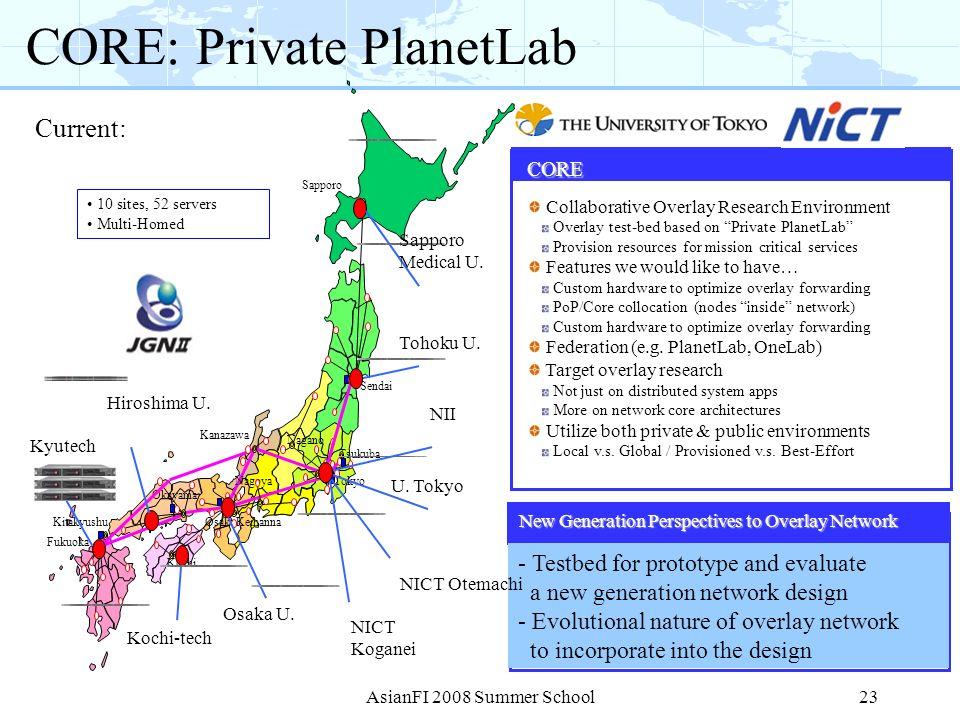 CORE: Private PlanetLab