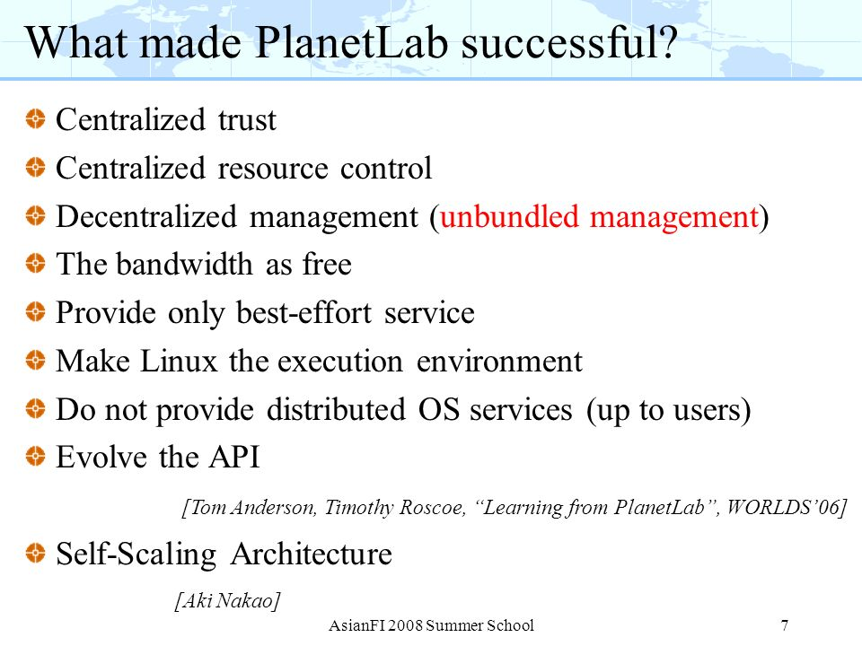 What made PlanetLab successful