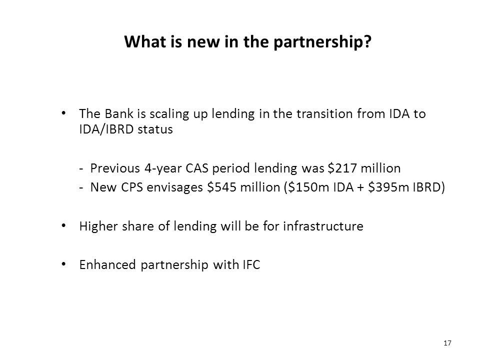 What is new in the partnership