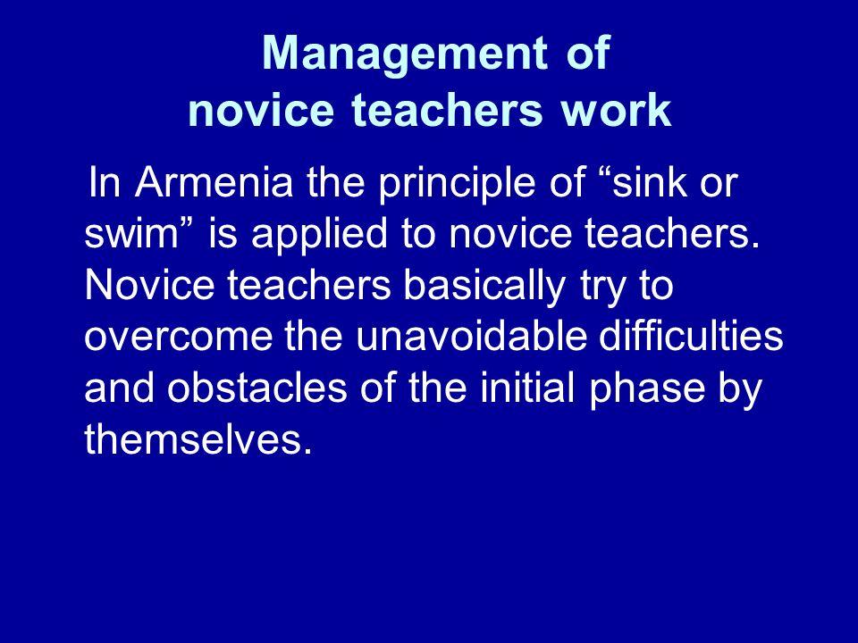 Management of novice teachers work