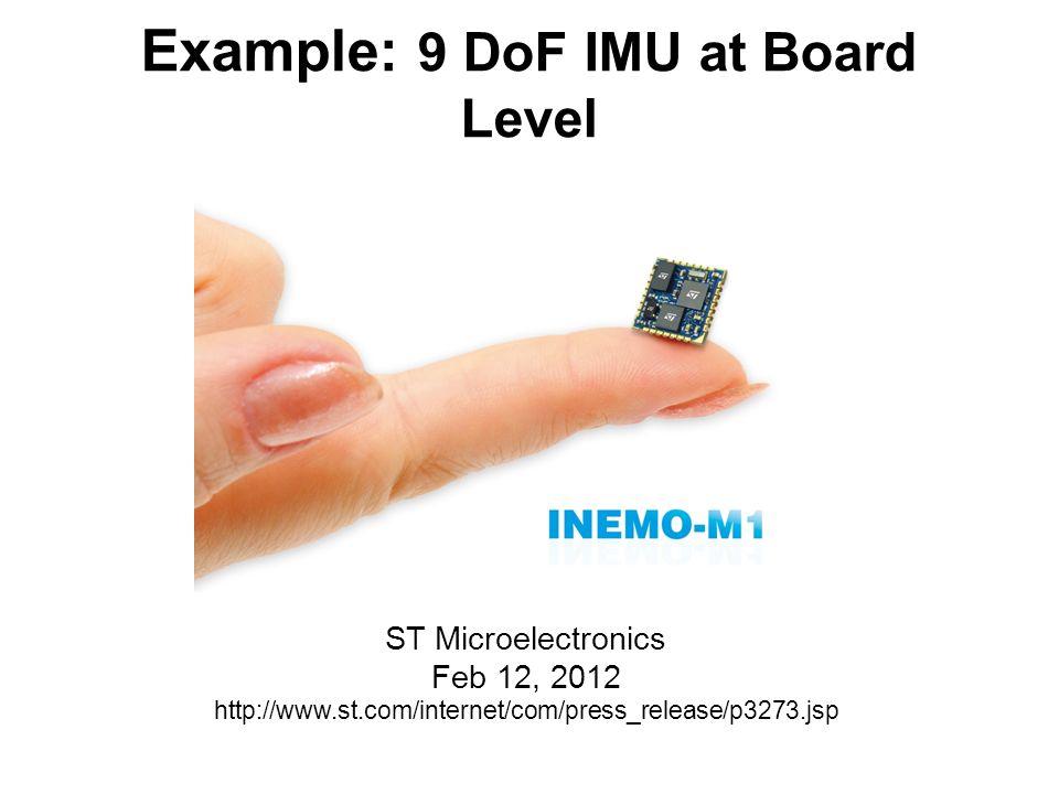 Example: 9 DoF IMU at Board Level