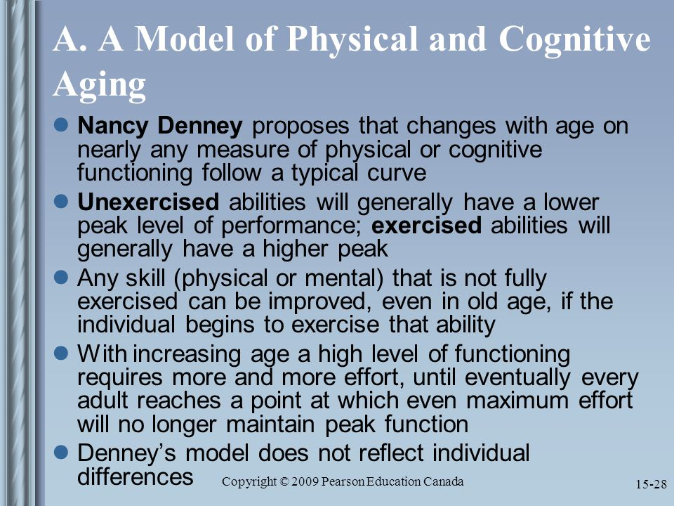 effects of aging on cognitive development Aging and memory in humans  ators of cognitive aging the information presented  ability to aging effects long-term memory.