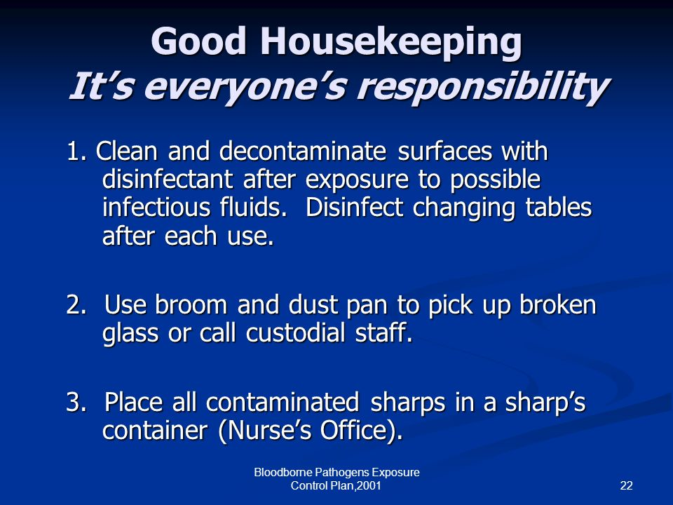 Good Housekeeping It's everyone's responsibility