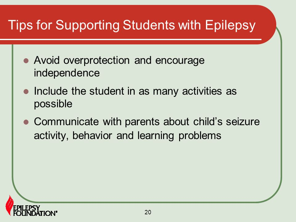 Tips for Supporting Students with Epilepsy