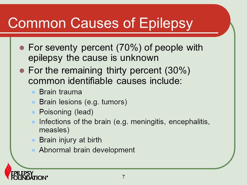 causes of epilepsy List of 2274 causes of seizures, alternative diagnoses, rare causes, misdiagnoses, patient stories, and much more.