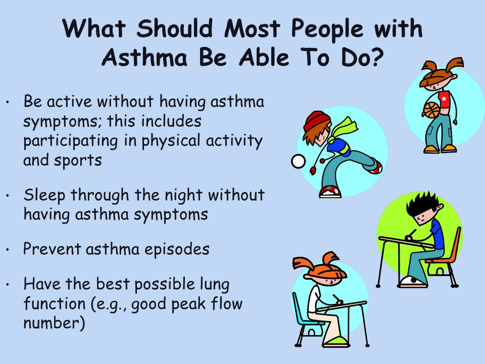 What Should Most People with Asthma Be Able To Do