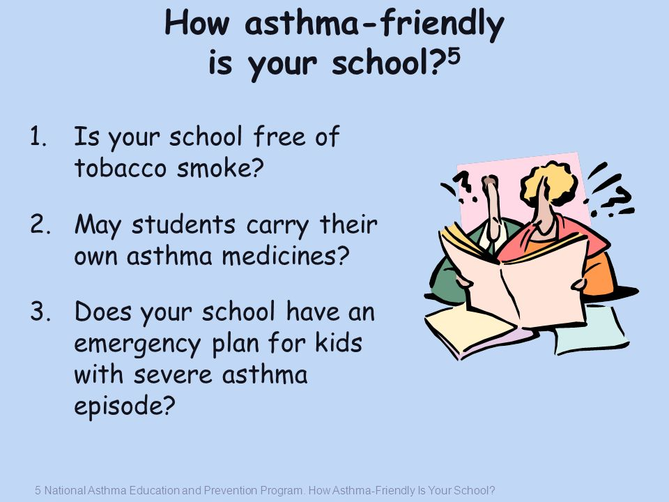 How asthma-friendly is your school 5