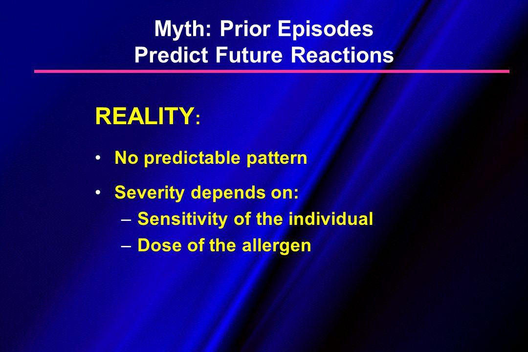 Myth: Prior Episodes Predict Future Reactions