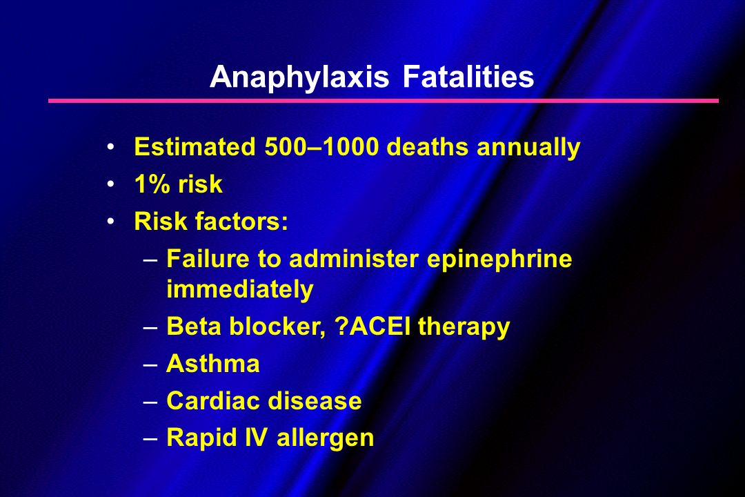 Anaphylaxis Fatalities
